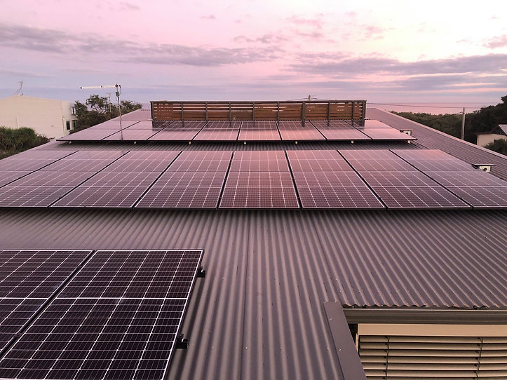 high quality REC solar panel installation completed by solar saving