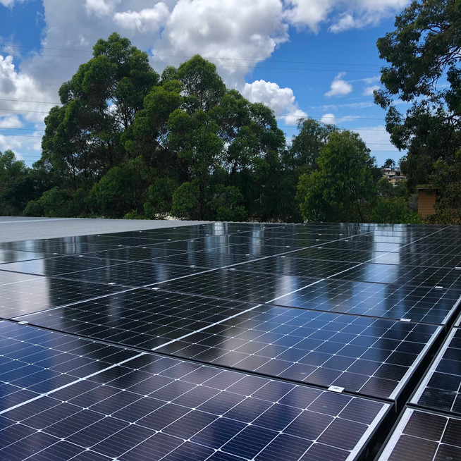 Trina Solar Panels on flat roof