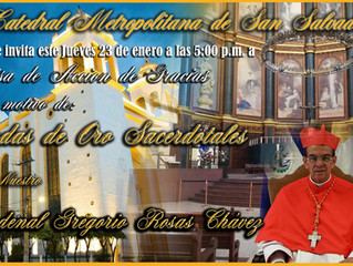 50 años de sacerdocio de Cardenal Gregorio Rosas Chávez