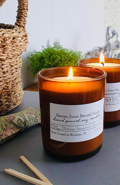 Vegan friendly Recycled Glass Soya Candles
