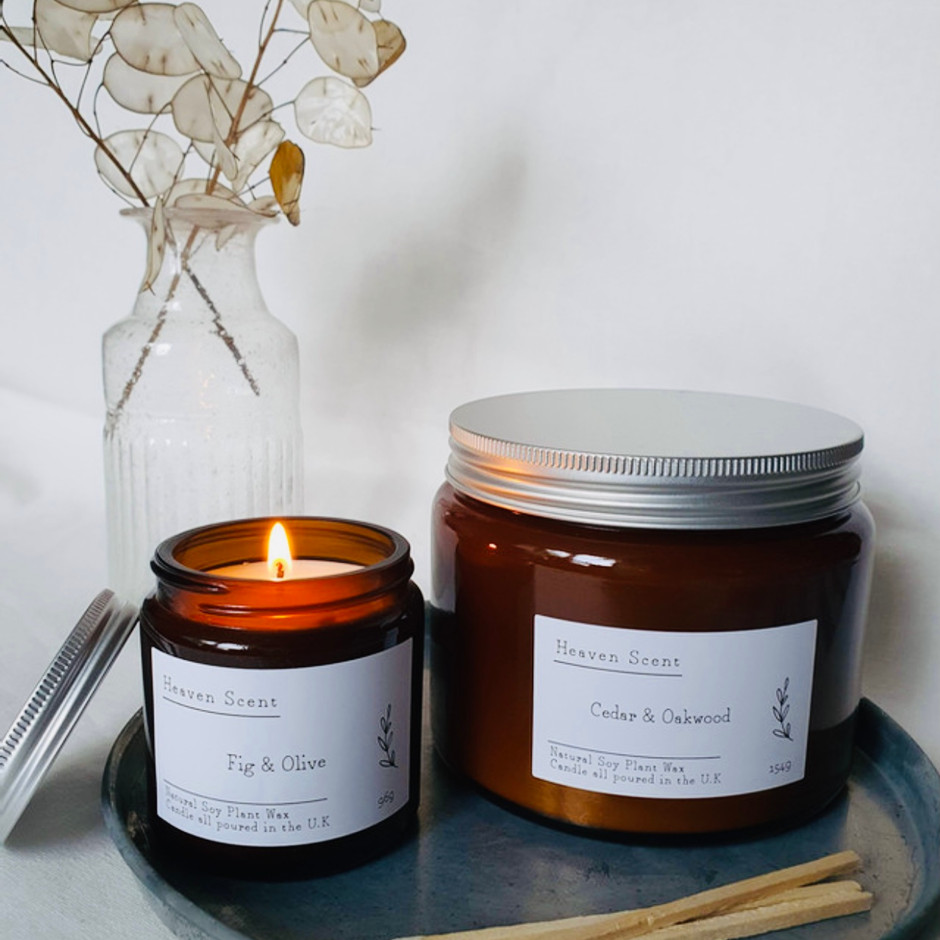 A selection of candles Vegan Friendly