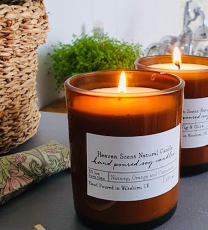 Recycled Vegan friendly Glass candles