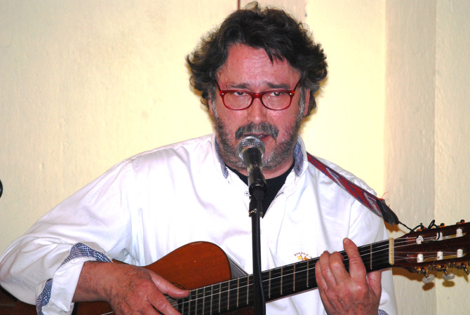 José Umbral en la cena-concierto el pasado 14 de Febrero