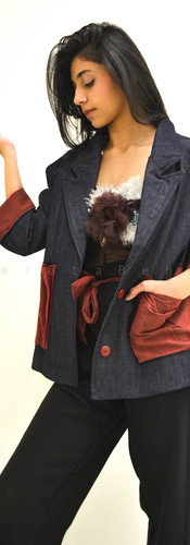 Denim Jacket & Paper Bag Pants