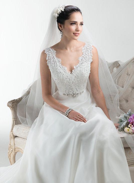 Maggie Sottero Debra wedding dress in Brides-2-B wedding shop in watford
