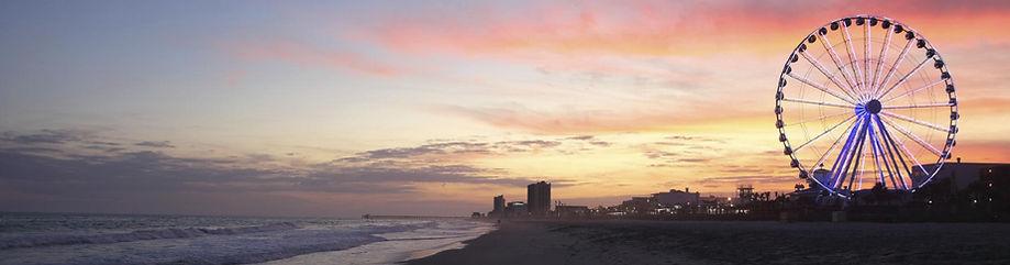myrtle beach, beach, skywheel, south carolina