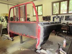 VW Pritsche eingesetzte Seitenwand