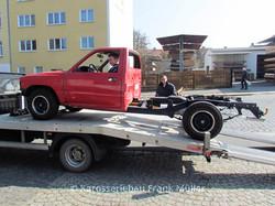 VW Taro bereit für die Lackierung