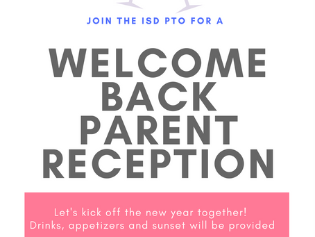 PTO Welcome Back Reception!