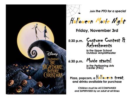 PTO Halloween Movie Night