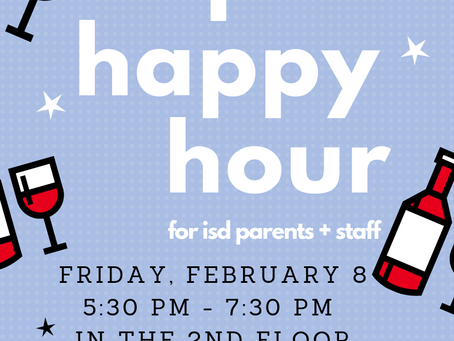 PTO News: Parent-Faculty Happy Hour!