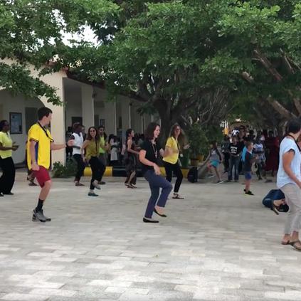 Cupid Shuffle Flash Mob!