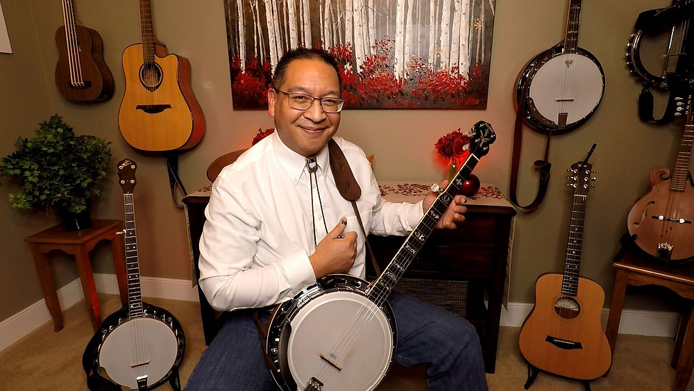 Larry Benitez with his 5-string banjo