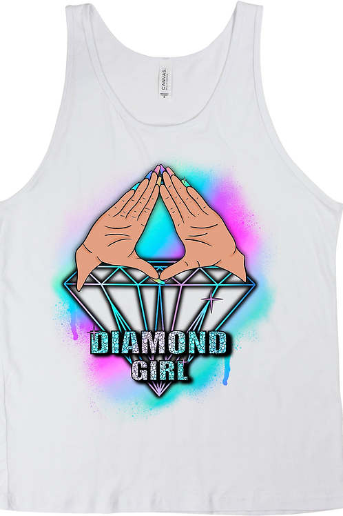 Diamond Girl Tank Top White