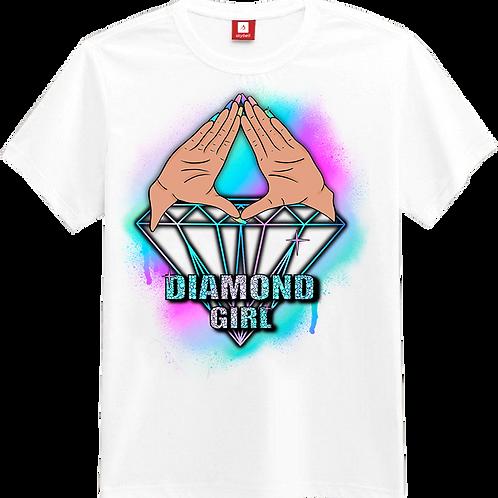Diamond Girl White Tee