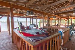 Boat in lift, boathouse 1