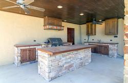 Patio kitchen area