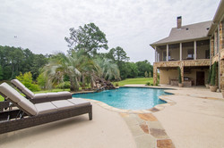 Pool, house rear view