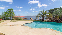 Pool with bay view