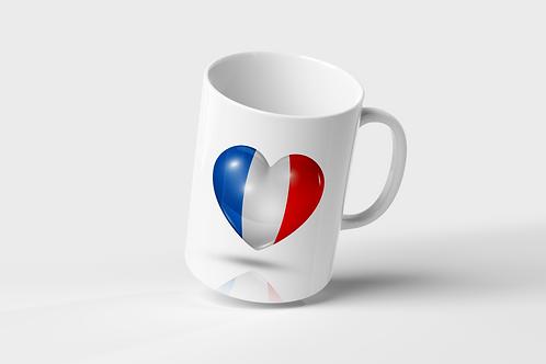 Mug Coeur  Drapeau pays