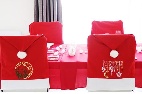 Décoration Noel: Dossier de chaise