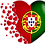 Thumbnail: Mug Coeur  Drapeau Portugais