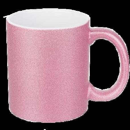Mug Glitter rose à personnaliser