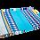 Thumbnail: Protège carnet de santé wax bleu