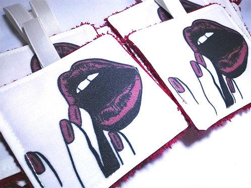 """Lingettes lavables """"lips"""""""