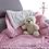 Thumbnail: Plaid bébé doublée minky coton - couverture bébé doublée minky coton