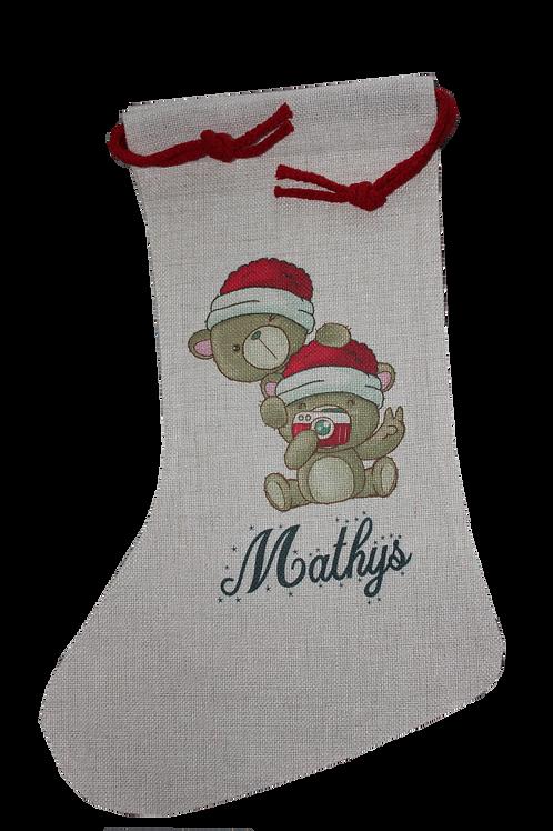 Chaussette Noël personnalisée sur mesure