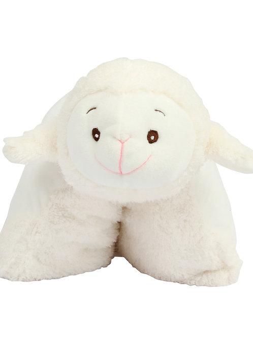Coussin agneau zippé à personnaliser avec Prénom
