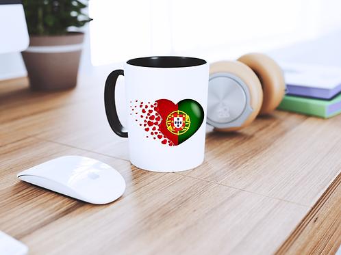 Mug Coeur  Drapeau Portugais