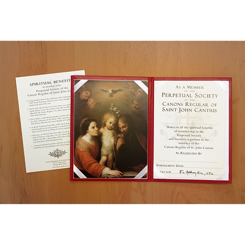 Enrollment with Holy Family folder