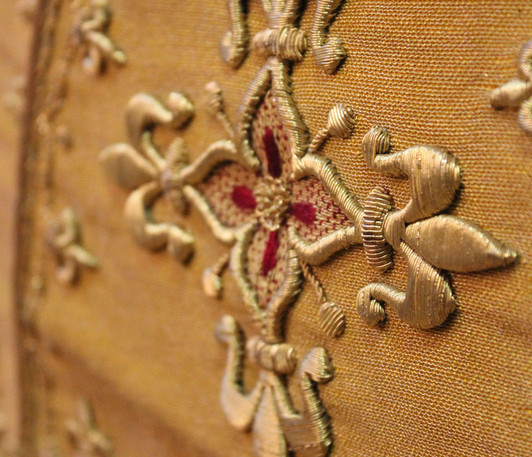 French Gold stole detail 3