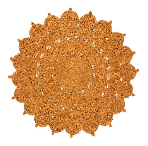 Tapis Rond style oriental JADE Orange