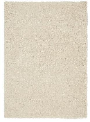 Tapis de Salon Design Polyester Uni TITO Blanc