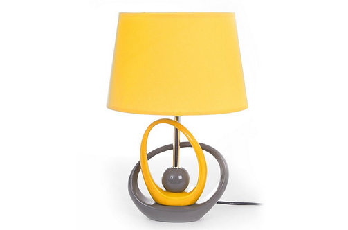 Lampe Cercles Jaune/Gris - Collection INTERIOR