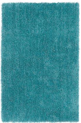 Tapis de salon Moderne poils longs DONNA Turquoise