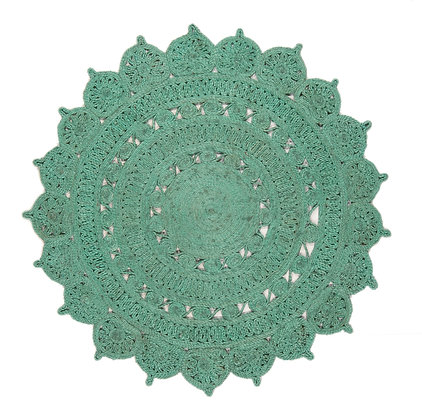 Tapis Rond style oriental JADE Turquoise