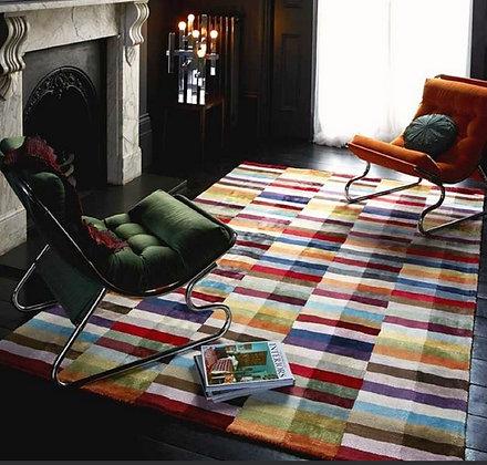 Tapis de salon Moderne fait main CODE Multicolore