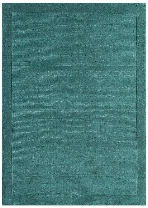 Tapis de Salon Moderne uni Pure Laine CANDY Turquoise