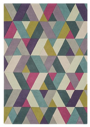 Tapis de salon Pure Laine couleurs FLASHY CHEVRON