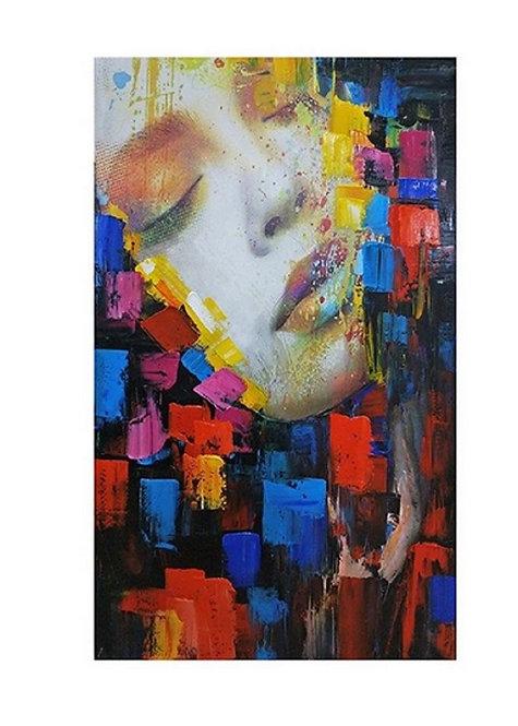 Toile peinte à la main moderne POP ART