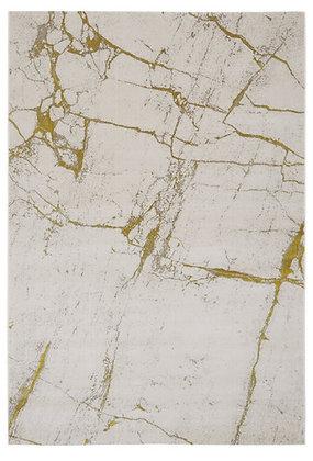 Tapis de salon Design polyester SOLAR Blanc 001
