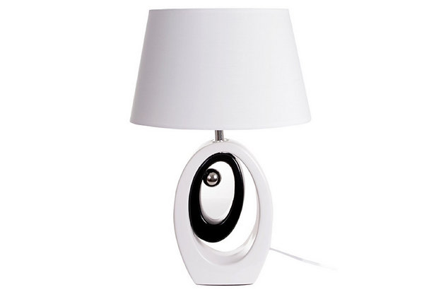 Lampe Ovale Noir/Blanc - Collection INTIMATE