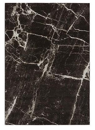 Tapis de salon Design polyester SOLAR Noir 002