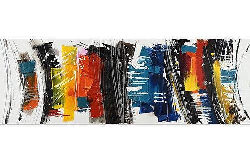 Toile Abstrait peinte à la main GALLERY 50x150 cm