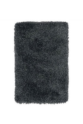 Tapis de salon poils longs FLOOD Noir