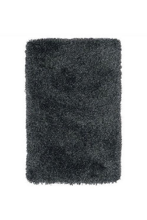 Tapis de salon poils longs FLOOD Noir